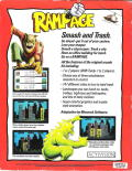 Rampage DOS Back Cover