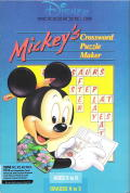 Mickey's Crossword Puzzle Maker DOS Front Cover