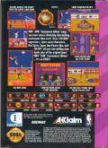 NBA Jam Tournament Edition Game Gear Back Cover