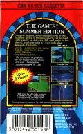 The Games: Summer Edition Commodore 64 Back Cover