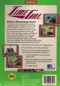 Time Gal SEGA CD Back Cover
