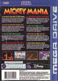 Mickey Mania Genesis Back Cover