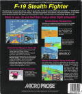 F-19 Stealth Fighter DOS Back Cover