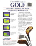 Championship Golf: The Great Courses of the World - Volume One: Pebble Beach DOS Back Cover