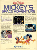 Mickey's Space Adventure DOS Back Cover
