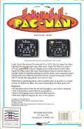 Super Pac-Man DOS Back Cover with distributor sticker