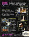 Crime Wave DOS Back Cover