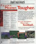 Front Page Sports: Football Pro '98 Windows Back Cover