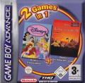 2 Games in 1: Disney Princess + Disney's The Lion King 1 ½ Game Boy Advance Front Cover
