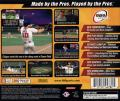 MLB 2001 PlayStation Back Cover