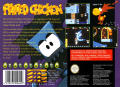 Alfred Chicken SNES Back Cover