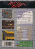 Alien Syndrome Game Gear Back Cover