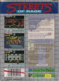 Streets of Rage Game Gear Back Cover