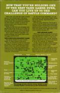 Combat Leader Atari 8-bit Back Cover