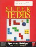 Super Tetris DOS Front Cover with plastic window