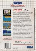 Land of Illusion starring Mickey Mouse SEGA Master System Back Cover