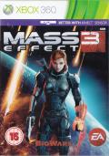 Mass Effect 3 Xbox 360 Front Cover Femshep reverse cover