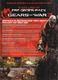 Gears of War 3 Xbox 360 Back Cover