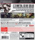 Metal Gear Solid HD Collection PlayStation 3 Back Cover