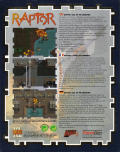 Raptor: Call of the Shadows DOS Back Cover