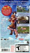 The Legend of Heroes: Trails in the Sky PSP Back Cover