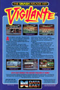 Vigilante Commodore 64 Back Cover