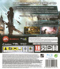 Mass Effect 3 PlayStation 3 Back Cover