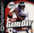 NFL GameDay 2002 PlayStation Front Cover