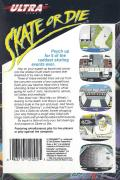 Skate or Die NES Back Cover
