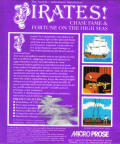 Sid Meier's Pirates! Commodore 64 Back Cover