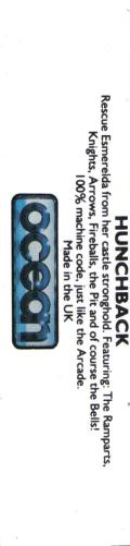 Hunchback Commodore 64 Back Cover