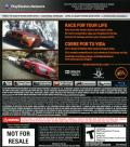 Need for Speed: The Run PlayStation 3 Back Cover