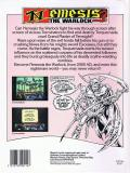 Nemesis the Warlock Commodore 64 Back Cover