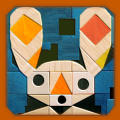 Puzzled Rabbit iPad Front Cover