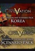 Sid Meier's Civilization V: Korea and Wonders of the Ancient World - Combo Pack Windows Front Cover