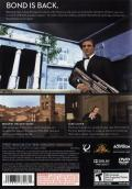 007: Quantum of Solace PlayStation 2 Back Cover