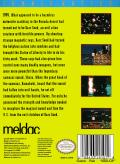 Zombie Nation NES Back Cover