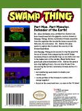Swamp Thing NES Back Cover