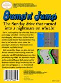 Bump 'N' Jump NES Back Cover