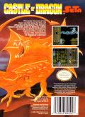 Castle of Dragon NES Back Cover