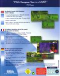 PGA European Tour DOS Back Cover