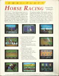 Omni-Play Horse Racing DOS Back Cover