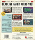Headline Harry and The Great Paper Race DOS Back Cover
