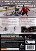 NHL 09 Xbox 360 Back Cover
