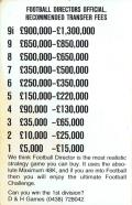 Football Director Amstrad CPC Inside Cover Left