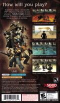 Valhalla Knights PSP Back Cover
