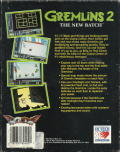 Gremlins 2: The New Batch DOS Back Cover