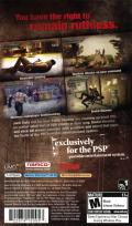 Dead to Rights: Reckoning PSP Back Cover
