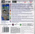SimCity 2000 Game Boy Advance Back Cover