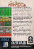 Joe Montana Football Game Gear Back Cover